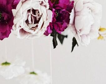 Lavender Baby mobile || Nursery mobile || Floral mobile || Nursery decor || Lavender || Rifle Paper Co. ||