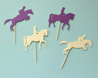 Horse Party Cupcake Toppers, Horse Birthday Party Decor, Horse Riding Party, Horse Cupcake Picks, Horse Cupcake Toppers