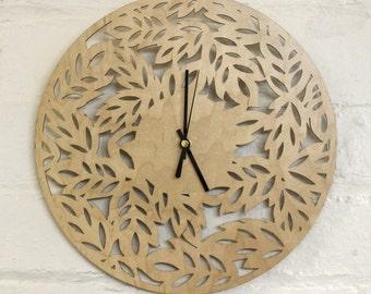 Laser Cut Wall Clock Etsy Uk