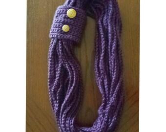 Scarf - Plum/purple rope