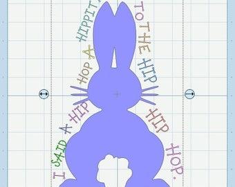 Easter Bunny Hip Hop SVG