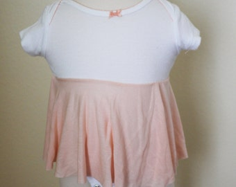 Unique and Stylish Peach Baby Onesie Dress