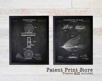 Fly Fishing Patent Prints. Fishing Wall Art. Fly Fishing Art. Fishing Patent Print. Fishing Art. Inventions. Fishing Reel. Gift for Him. 137