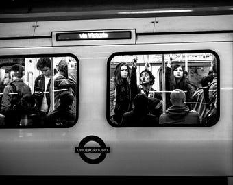 London photography, street photography, London underground prints,  fine art photography, black and white, London prints, prints