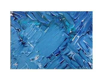 Abstract art: Blue Heart
