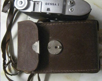 Antique, Voigtlander, Bessa, Camera, Genuine, Brown, Leather Case, Reduced