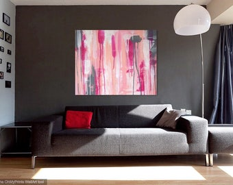 Descension in Pink - 16x20 - Original Acrylic Painting - Abstract Wall Art - Home Decor