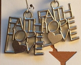 Faith, Hope, Love Earrings