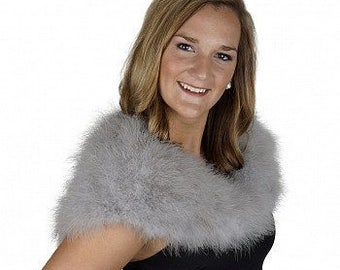 Marabou Feather Shawl with Front Hook Closure