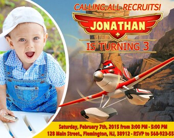 Disney Planes Fire and Rescue Invitation Birthday Party