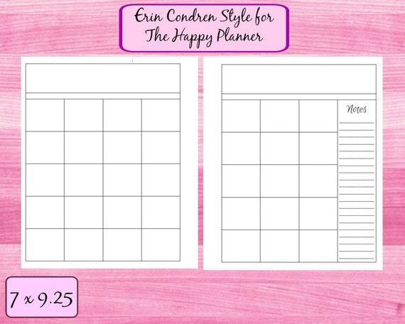 Calendar Planner Erin Condren : Monthly calendar erin condren for the happy planner