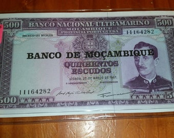 Uncirculated Note Mozambique 1967