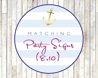Matching 8x10 Party Sign - Printable DIY
