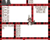 Time Capsule First Birthday, Printable Time Capsule, Birthday Time Capsule, Lumberjack Party, Lumberjack Birthday Party, Printable Birthday