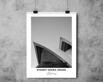 Sydney Opera House - Black and White Print - Sydney - A4/A3 - Postcard / Print / Poster / Landmark / Australia
