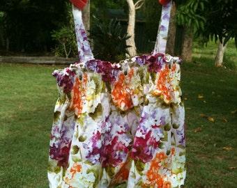 Hydrangia Print shirred top