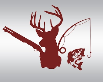 Deer head fishing hunting  SVG Clipart Cut Files Silhouette Cameo Svg for Cricut and Vinyl File cutting Digital cuts file DXF Png Pdf Eps