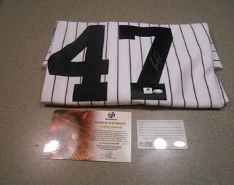 IVAN NOVA SIGNED new york yankees jersey/global/sports memorabilia/w/tags