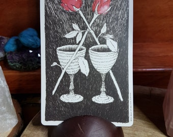 Upcycled Wooden Tarot Card Stands