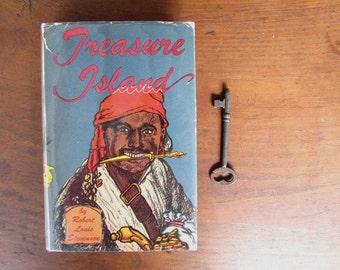 Treasure Island Robert Louis Stevenson Vintage Books for Boy sand Girls Dust Jacket
