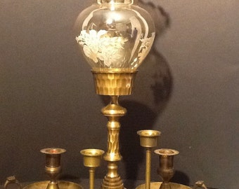 Reduced :Vintage lot of 5 brass Candle holders.