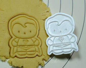 Cute Superman Cookie Cutter and Stamp