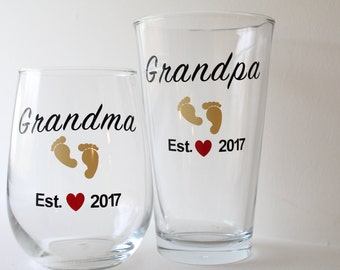New Grandparent Glass