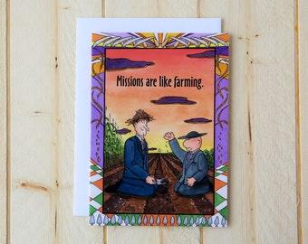Missionary Greeting Card - Mission Farming