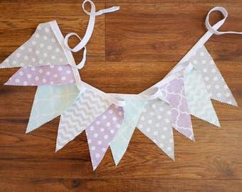 Fabric Bunting Banner - Party Decor - Nursery Decor - Baby Shower Decor - Garland - Bunting Banner- Photography Prop - Wedding Decor