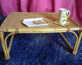 DISCOUNT Vintage rattan, bamboo and wicker coffee table