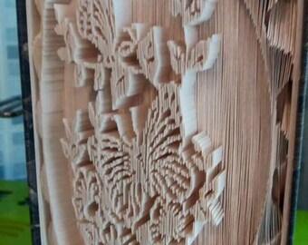 Butterflies in Frame Book Folding Pattern