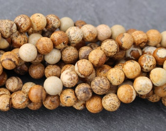 6mm Picture Jasper Beads, Round - Full Strand, 15 Inches
