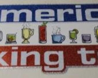 All American Drinking Team Vintage Transfer