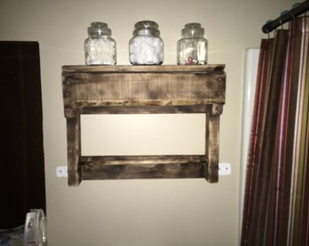 Reclaimed Wood Towel Rack