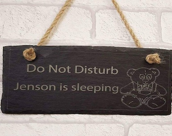 FREE P&P childs hanging door sign