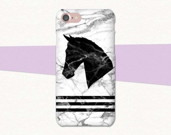 Marble Horse Phone Case, Equestrian iPhone Case, Horse iPhone Case, iPhone 7 Case Horse, iPhone 6 Phone Case Horse, Gift for Horse Lover