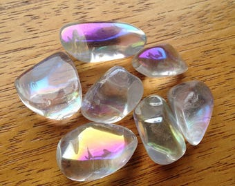 Angel Aura Quartz Tumble Stones