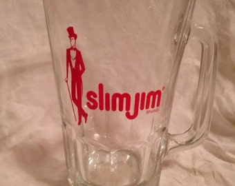 Slim Jim Promotional Beer Pitcher