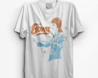 David Bowie Ziggy Stardust White Vintage Look T-Shirt - S M L XL