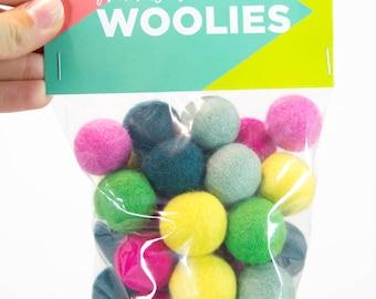 Sprinkled Donut // DIY Woolie Balls