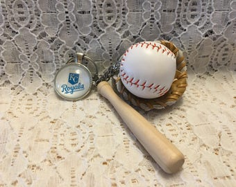 Kansas City Royals Key Chain/Kansas City Royals Key Ring/Kansas City Royals/Royals Key Ring/Royals Key Chain/MLB Key Ring/MLB Key Chain