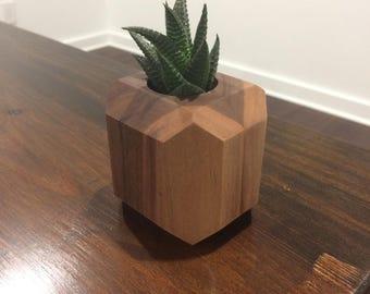 3 Home decor walnut planter set
