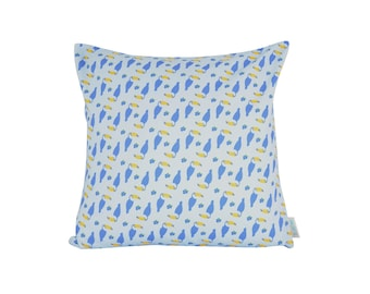 Printed Toucans cushion cover 16 x 16 inch, limited edition