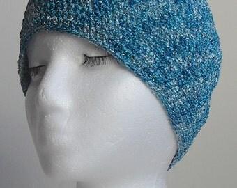 Ladies Classy Metallic Blue  Hat