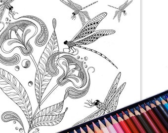 Printable colouring page, Grown up coloring, Art for anxiety relief