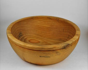Hand turned pine bowl
