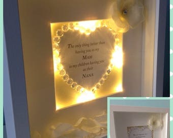 Quirky light up  frame the only thing better than having you as my mam is my children having you as their nana gift personalised love