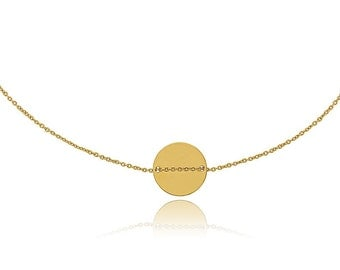 Ras plated neck collar Or chain fine round Medal