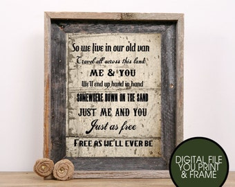 Zac Brown Lyrics  Country Lyrics Song Free Just as free, free as we'll ever be  You Print Your Own Digital Art