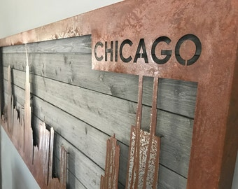 Chicago Skyline Wall Art (Large - 7 ft.)